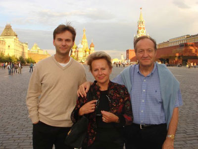 Олег с родителями