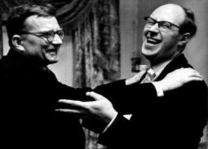 Д.Шостакович с М.Ростроповичем - одним из первых исполнителей его сочинений